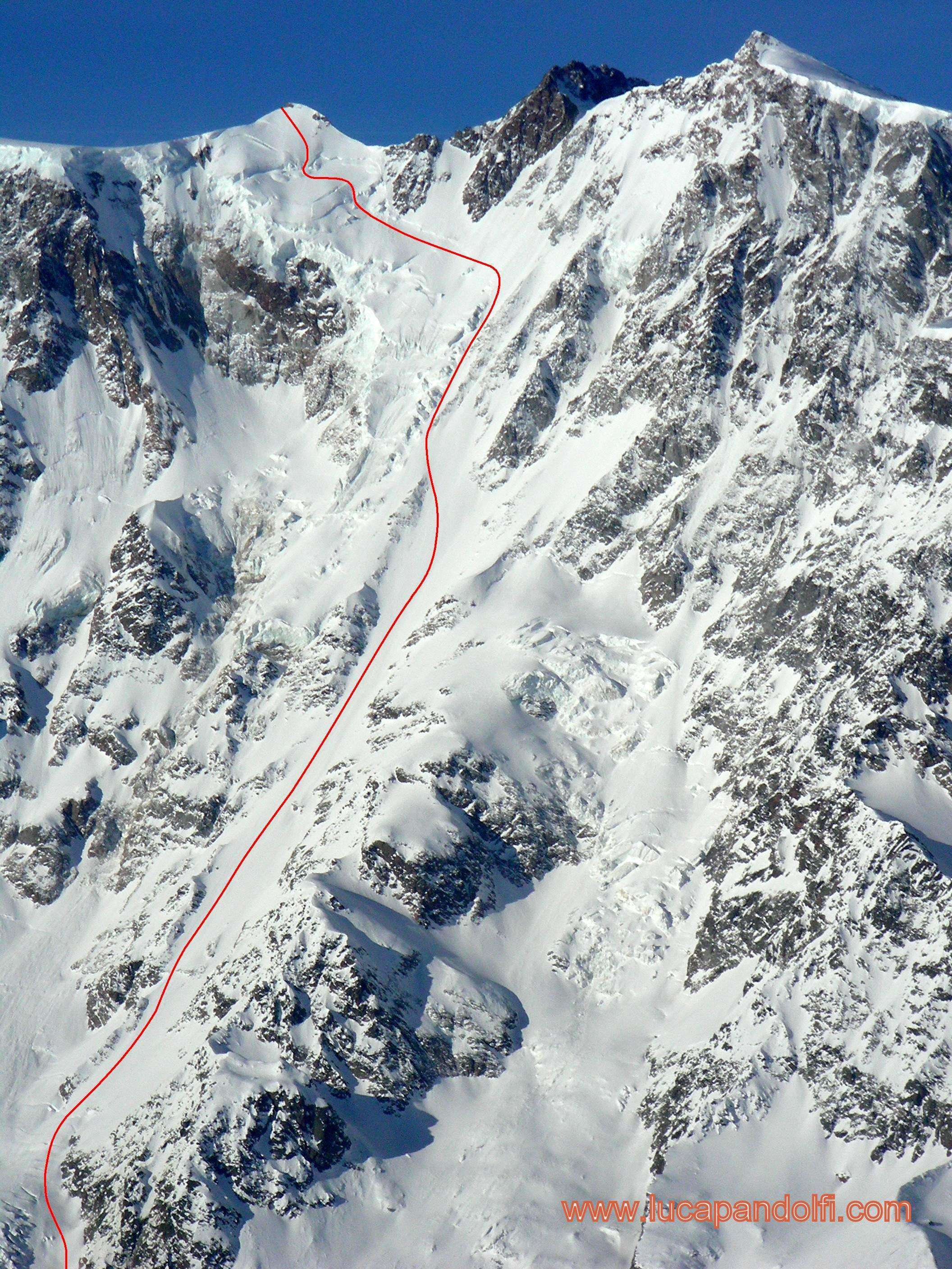 Monte rosa east face marinelli couloir for Montre rosra
